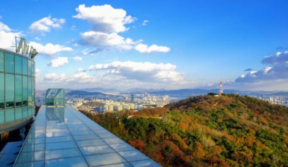 views from namsan in autumn
