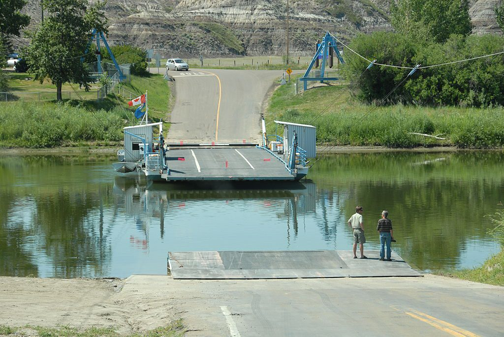 bleriot ferry in drumheller