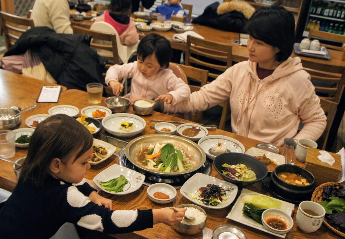 ssambab meal in gyeonju korea