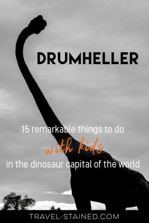 What kid doesn't love dinosaurs? Discover the best things to do in Drumheller and which Drumheller attractions are best for kids of all ages in this complete guide. #thingstodoindrumheller #drumhellerbadlands #albertabadlands #royaltyrrellmuseum #drumhellerattractions #whattodoindrumheller #drumhellermap #drumhellerhoodoos #drumhellerwithkids