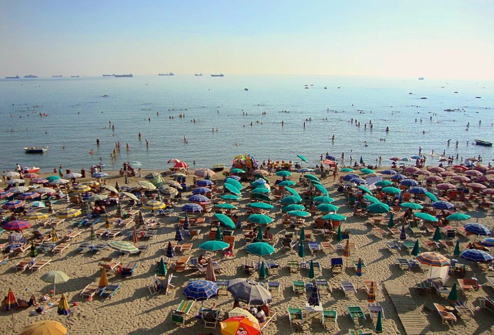 durres beach in summer