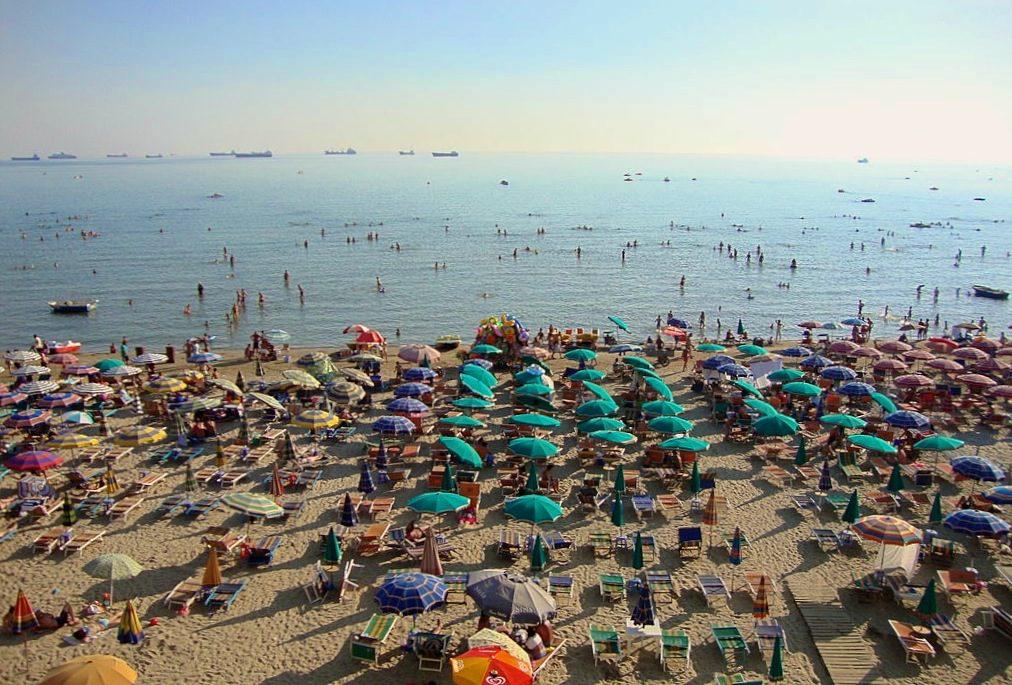 durres beach in summer