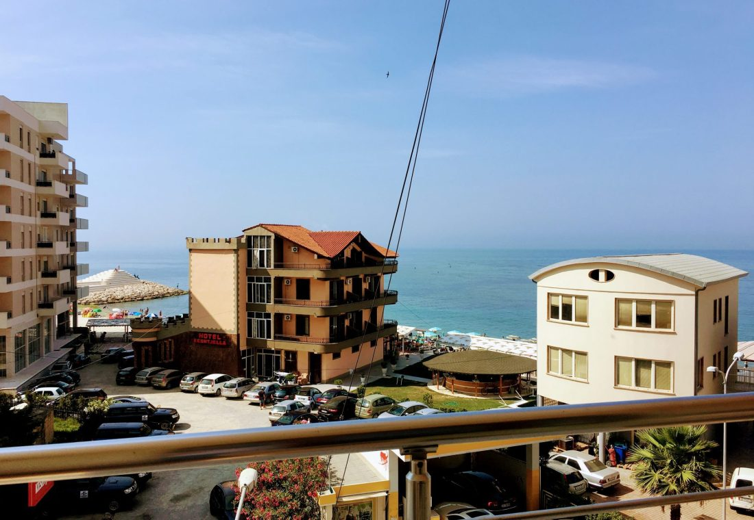 view of durres seafront from nais beach