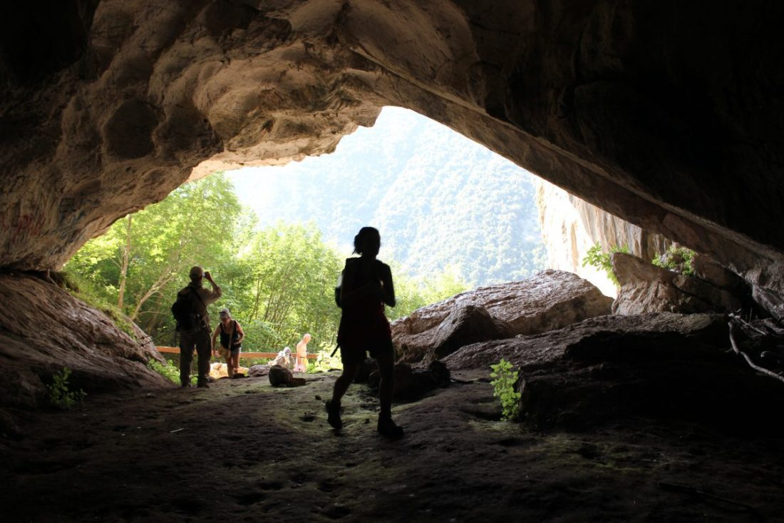 Entrance to the cave of pellumbas, day trips from tirana