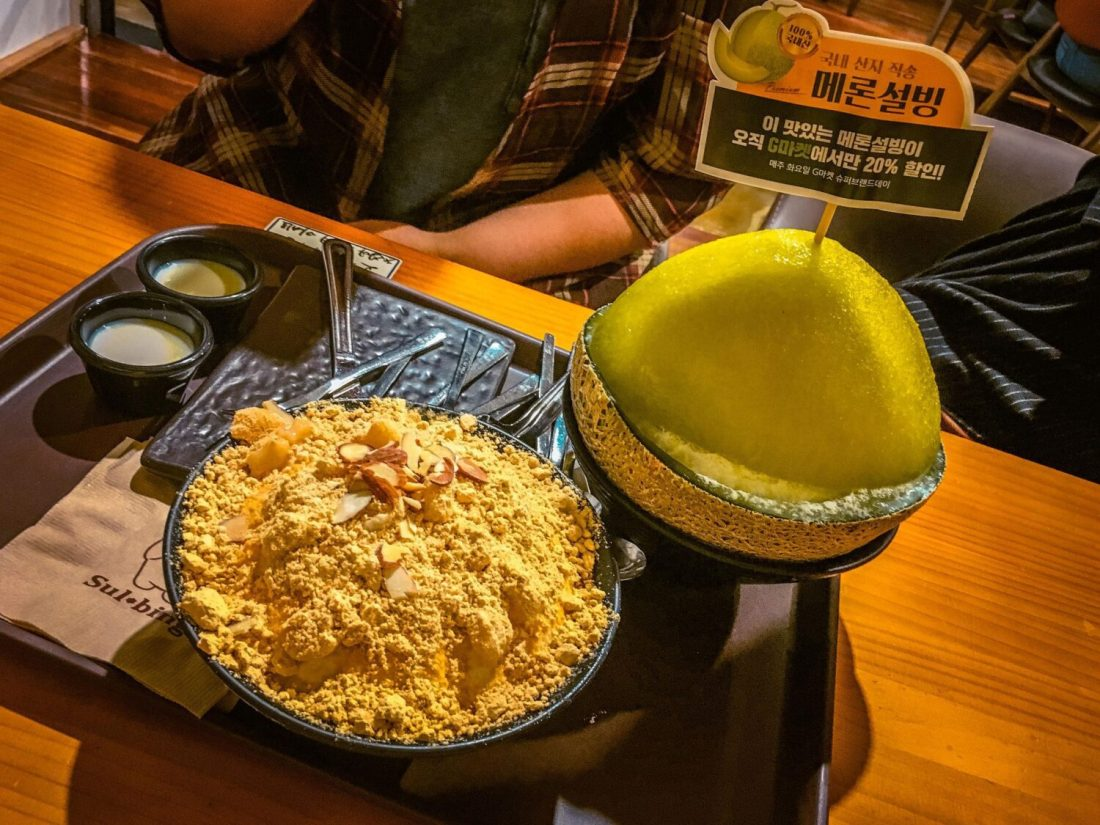 bingsu summer in seoul dessert