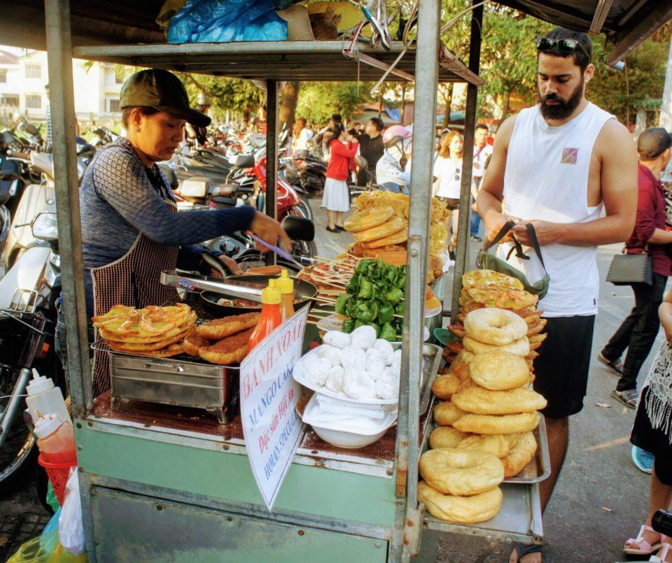 street food cart in hoi an, vietnam