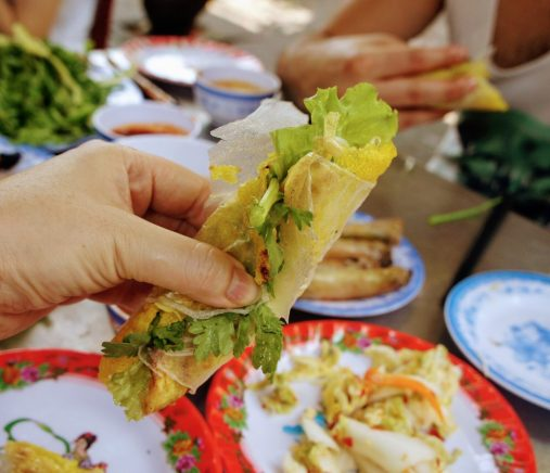 things to do in hoi an: eat banh xeo at bale well