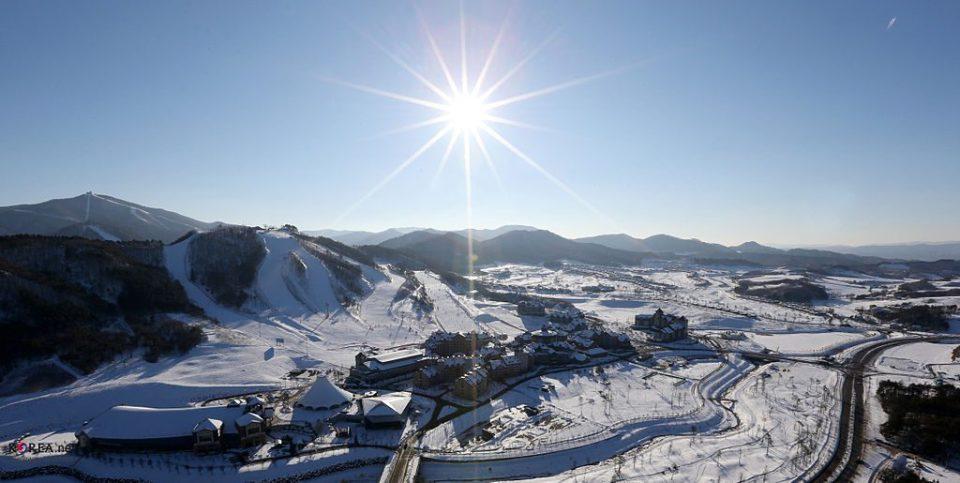 pyeongchang winter landscape korea