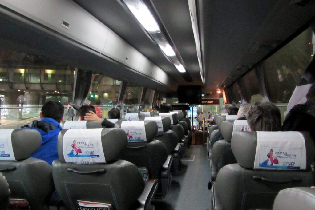 interior incheon airport bus