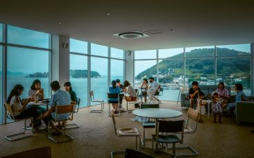 Awesome views from inside Simhae Cafe