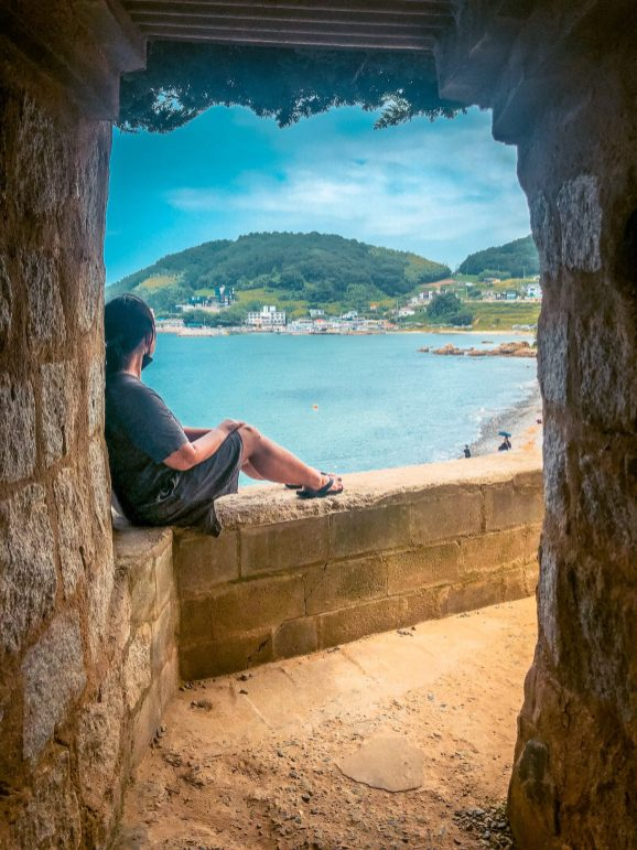 lookout to the sea at Maemi Castle / Maemiseong