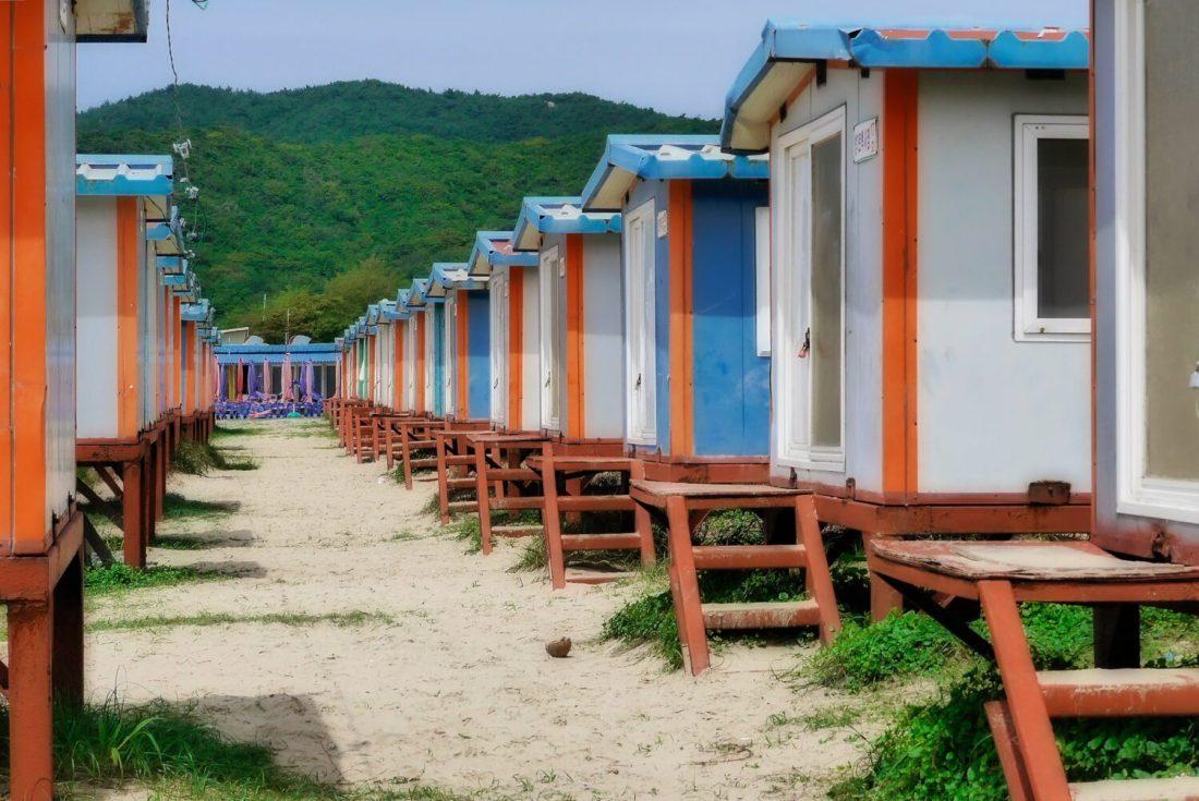 bungalows on hanagae beach near seoul