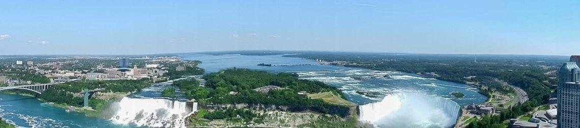 Ниагарский водопад - вид с канадской стороны с башни Скилон