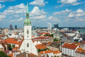 Братислава: вид на Старый город со стороны замка Братиславский град