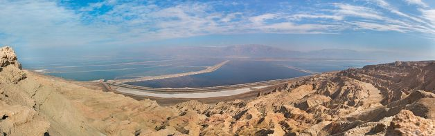 Путешествие по пустыням Израиля: пейзаж (вид на Мертвое море)