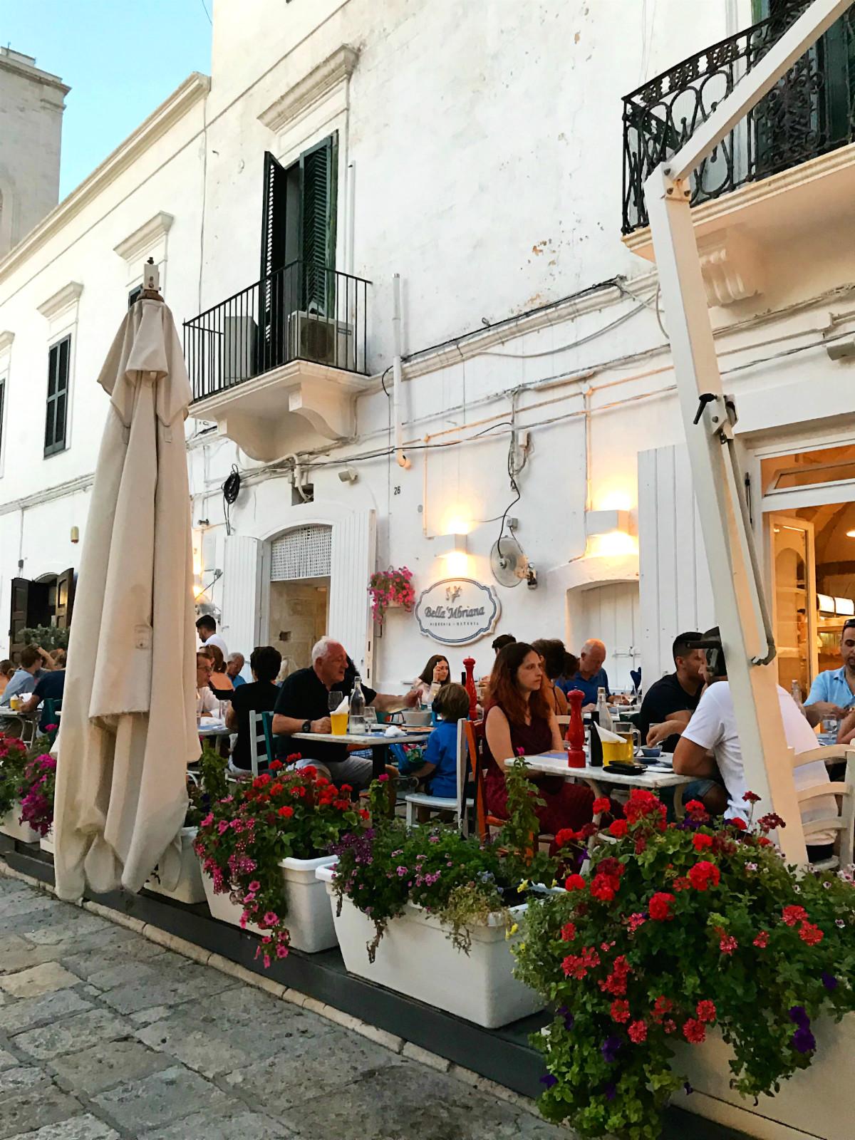 Отдых в Апулии: ресторан Bella 'Mbriana в Полиньяно-а-Маре
