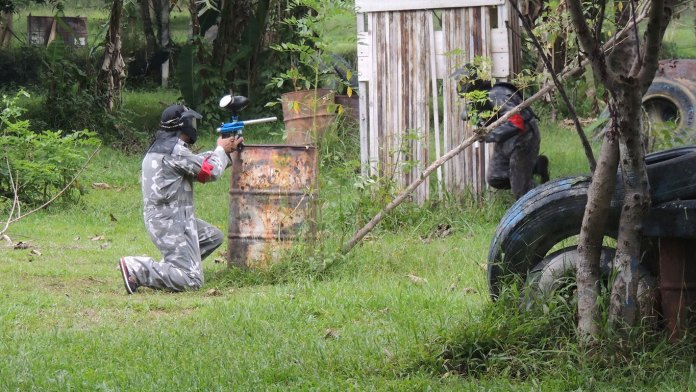 Bali is home to a selection of paint ball arenas, perfect for visitors who want to galvanise a little team spirit and feed their hunger for adrenaline. Image: www.visit2indonesia.com