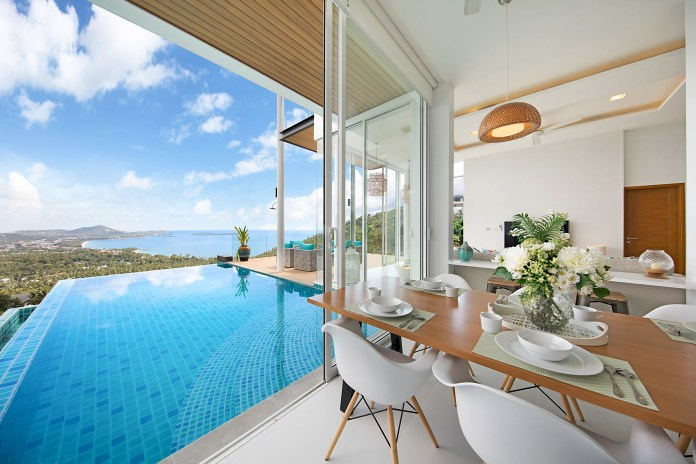 The blue sea villa looks just heavenly
