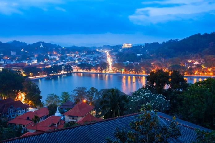 Night lights of Kandy