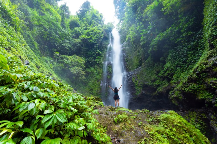 Laangan waterfall in the Munduk forest