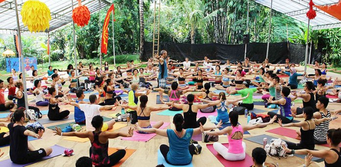 Yoga is one of the top things to try at BaliSpirit.