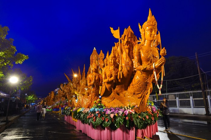 Ubon Ratchathani Candle Festival is sure to be one of the most unique family events and festivals in Thailand in 2019.
