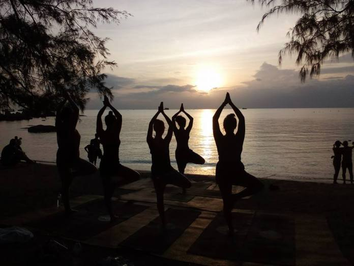 Rooftop sunset yoga is perhaps one of the best events in summer (2019) in Thailand.