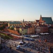 Warsaw Old Town Sunset