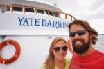Traveling around the world, Yacht Darwin in the Galapagos