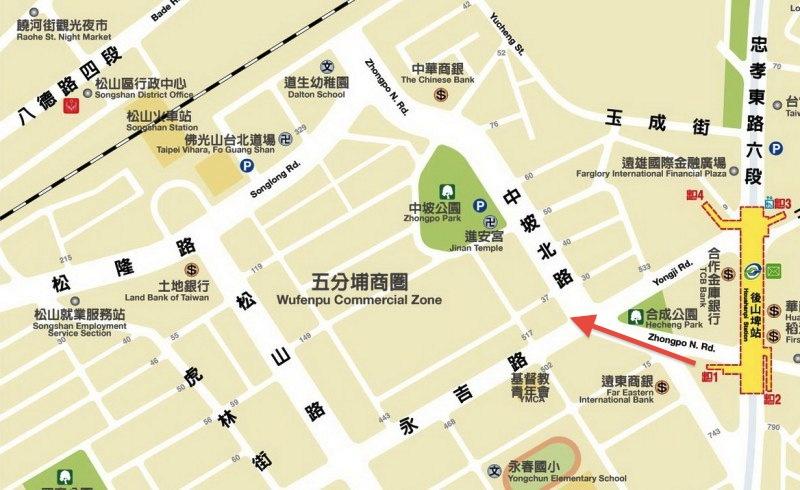 Wufenpu Location