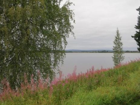Ore kyrka sits at the shore of this lake