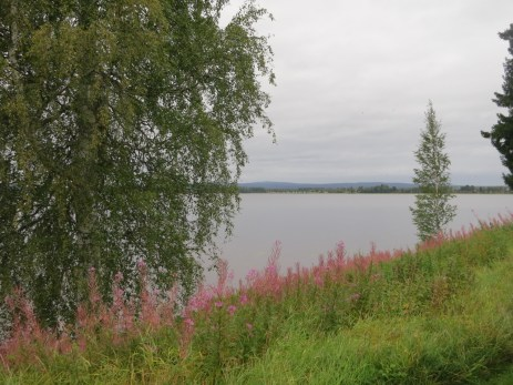 Ore kyrka sits at the shore of this lake