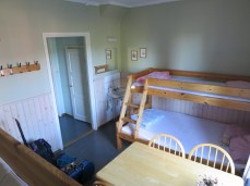 our (Ursula's and my) hostel room in Avesta. so glad of a few hours' down time! i think there was one other person in the building that night.