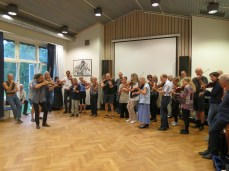 the fiddle class playing for dancing