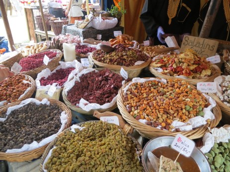 bazaar stall with a splendid array of dried fruits and nuts