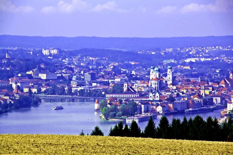 der schönste Anblick von Passau kommt aus Österreich