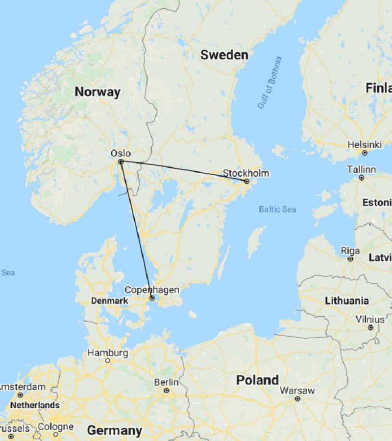 Copenhagne - Oslo - Stockholm Tour
