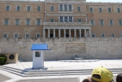 """<h5>Syntagma Square</h5><p>Guarding the monument of the """"Uknown Soldier"""" 24/7.</p>"""