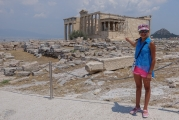 <h5>The Erechtheion - Ερέχθειον</h5><p>The Karyatides columns we see on The Rock are actually replicas. The originals are in the Akropolis Museum. Once is missing, along with tons of other Parthenon marbles. British Museum.</p>