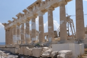 <h5>The Parthenon - Παρθενώνας</h5><p>Monumental restoration effort in progress.</p>
