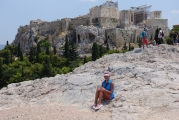 <h5>Akropolis view from the Areios Pagos.</h5>