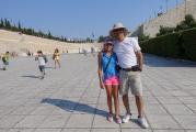 <h5>Panathinaikon Stadium, 566 BC.</h5><p>First Modern Olympics, 1896, took place here. </p>