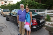 <h5>At Apostolo`s home, down at the street</h5>