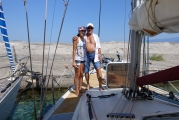 <h5>On the way to the sailboat</h5>