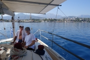 <h5>Aboard the sailboat</h5>