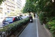 <h5>Sidewalk on Papagou Ave.</h5>