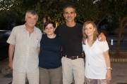 <h5>With Christina, Mima and their father</h5>