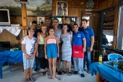 <h5>With Mrs Maroulla and Katerina along with the new staff.</h5><p>The late Takis Ttakkas was with us!</p>