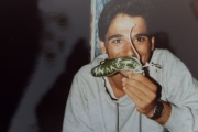 <h5>Pulling pranks</h5><p>Our parents didn`t catch any fish, so we dove in the night and put a cucumber in their net!</p>
