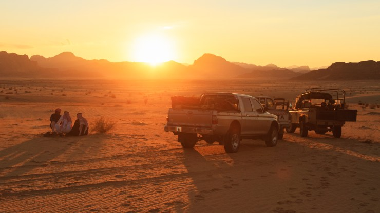 Wadi Rum Jordan Jeep Campfire Michael Bonocore